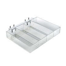 Four Compartment Tray for Peg/Slat/Counter