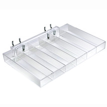 Six Compartment Tray for Pegboard / Slatwall / Counter