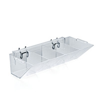 4-Compartment Molded Tray for Pegboard or Slatwall