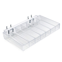 Seven Compartment Tray for Pegboard / Slatwall / Counter