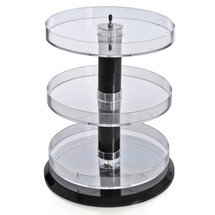"Three Tier Revolving Display 13.5""H x 11"" Diameter"