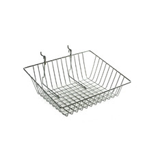 "5""H Sloped Chrome Wire Basket"