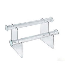 """Two-Tier Bracelet Counter Display. Overall Measurements: 6""""H x 11.75""""W"""