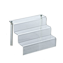 "Three-Tier Counter Step Display: 9""W x 6.25""D x 6""H"