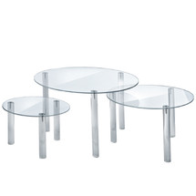 3-Piece Acrylic  Large Round Riser Set