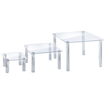 3-Piece Acrylic Square Riser Set