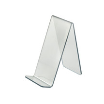 """4""""W x  8""""D x 8.75""""H Easel Display. Front Lip: 1.75""""H"""