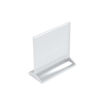 """6""""W x 5.5""""H Top-Load Two Sided Sign Holder"""