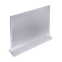 """14""""W x 11""""H Top-Load Two Sided Sign Holder"""