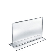 """12""""W x 9""""H Double-Foot Two Sided Sign Holder"""