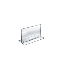 """7""""W x 5""""H Double-Foot Two Sided Sign Holder"""