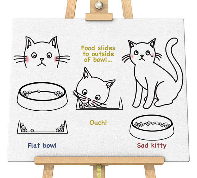 Be kind to your feline with Dr. Catsby's Whisker Relief Bowl
