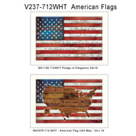 V237-712WHT  American Flags