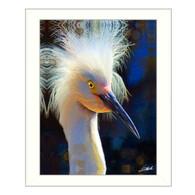 """""""Backlit Egret"""" by artist Tim Dardis"""