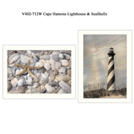 "V402-712W ""Cape Hatteras Lighthouse & Seashells"""