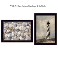 "V402-712 ""Cape Hatteras Lighthouse & Seashells"""