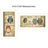 V412-712W Whimsical Owls