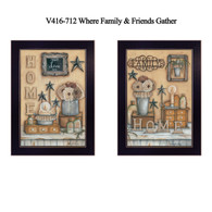 "V416-712 ""Where Friends & Family Gather II"""