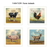 "V418-712W ""Farm Animals"""