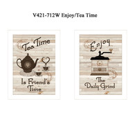 "V421-712W ""Enjoy/Tea Time"""