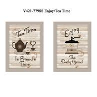 "V421-779SS ""Enjoy/Tea Time"""