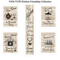 "V426-712W  ""Kitchen Friendship Collection"""