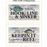 "V442-712W ""Fishing Prints"""