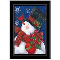"ART1032A-704G ""Cheery Snowman with Present"" with an easel"