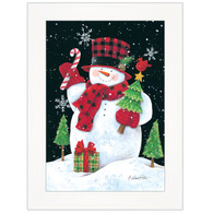 "ART1046A-226 ""Plaid Top Hat Snowman"" with an easel"
