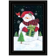 "ART1047A-704G  ""Plaid Stocking Hat Snowman"" with an easel"