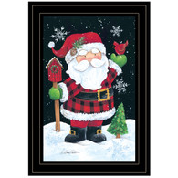 "ART1048A-704G  ""Plaid Santa"" with an easel"