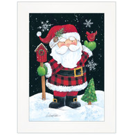 "ART1048A-226 ""Plaid Santa"" with an easel"