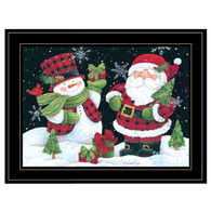 "ART1050-704G  ""Plaid Snowman and Santa"""