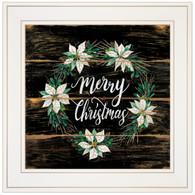 """CIN769-226G """"Merry Christmas Poinsettia Wreath"""""""