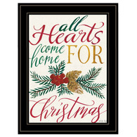 "CIN862-704G ""All Hearts Come Home For Christmas"""