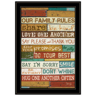"MA610-704G ""Our Family Rules"""