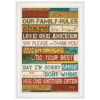 "MA610-226G ""Our Family Rules"""