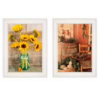 "V490-226G ""Vintage Country & Sunflowers"""