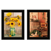 "V490-704G ""Vintage Country & Sunflowers"""