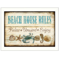 "MOL447B-712W ""Beach House Rules"""