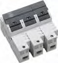 3-POLE FUSE BLOCK FOR CLASS CC FUSE, BLOWN FUSE LED, 30A Max
