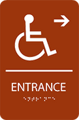 Entrance Right ADA Sign