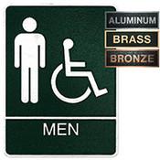 Men's Accessible Metal ADA Plaque