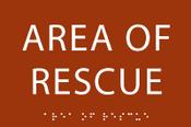 Area of Rescue ADA Sign