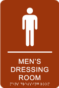 Men's Dressing Room ADA Sign