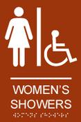 Women's Showers ADA Sign