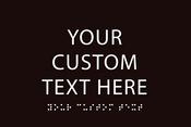 "Custom 9"" x 6"" ADA Sign"