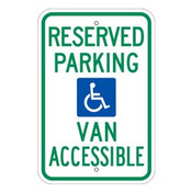 Reserved Parking Van Accessible Handicap Parking Sign