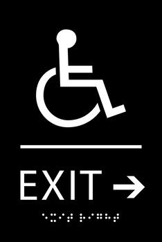Exit Right ADA Sign