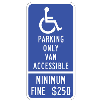 California Van Accessible Handicap Parking Sign